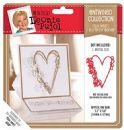 Crafter's Companion - Leonie Pujol - Entwined Collection - Folk Heart Set Butterfly Border Metal Die